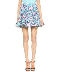 Viktor & Rolf Printed Ruffle Skirt - Pale Lavender - Lyst