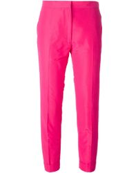 Rochas Cropped Trousers - Lyst