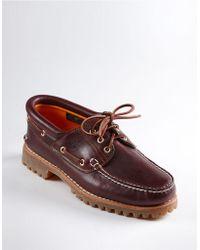 Timberland Three-eye Lug Sole Boat Shoes - Lyst