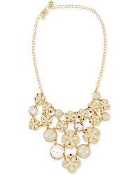 Kate Spade Window Seat Bouquet Bib Necklace Cream - Lyst