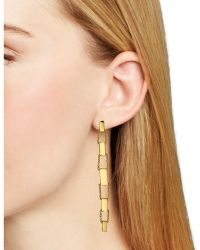Diane von Furstenberg Linear Drop Earrings - Metallic