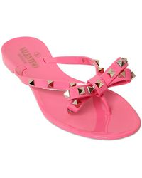 Valentino Rockstud Flip Flops - Pink