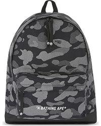 A Bathing Ape Reflection Camouflage Backpack - Black