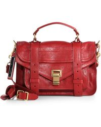 Proenza Schouler Ps1 Tiny Leather Satchel - Lyst