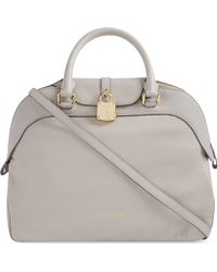 Burberry Leather Bowling Bag 30 - Lyst