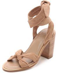 Zimmermann Loop Knot Ankle Tie Heels - Nude beige - Lyst