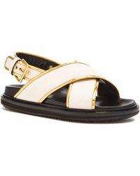 Marni Chevron Canvas Sandals - Lyst