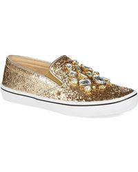 Kate Spade Slater Glitter Sneakers - Lyst