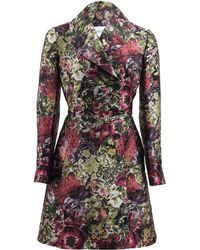 Valentino Short Floral Coat with Matching Belt - Lyst