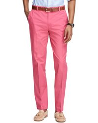 Brooks Brothers Milano Fit Supima® Cotton Poplin Pants - Lyst