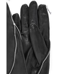Imoni - Long Lambs Leather Glove With Side Zip - Lyst