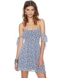 Nasty Gal For Love and Lemons Kiss Me Dress Blue Floral - Lyst