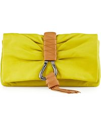 Halston Heritage Convertible Leather Clutch Bag - Lyst