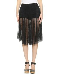Free People Champagne Lace Culotte Pants - Black - Lyst