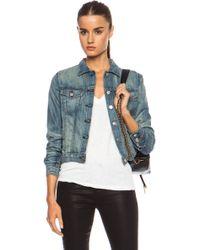 Rag & Bone Blue Jean Jacket - Lyst