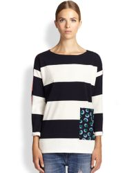 Stella McCartney Contrast Stripe Sweater - Lyst