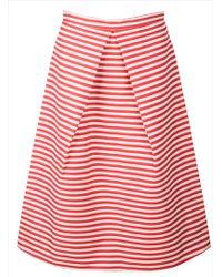 Kelly Love - Bright Skies Striped Midi Skirt-last One - Lyst