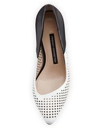 French Connection Maya 2 Perforated Pump - Black