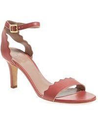 Chloé 'Lauren' Studded Sandal - Lyst