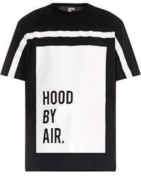 Hood By Air - Block-Print Logo Cotton-Jersey T-Shirt - Lyst