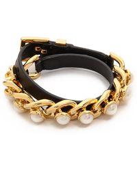 Tory Burch Winchel Chain Bracelet - Ivoryblackshiny Gold - Lyst