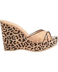 Jimmy Choo Perfume Platform Slide Natural Cork - Lyst