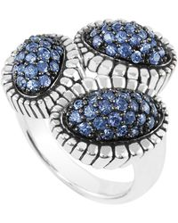 Lagos Sterling Silver Fluted Muse Sapphire Ring silver - Lyst