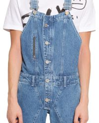 House of Holland - Howdah Cotton Denim Overalls - Lyst