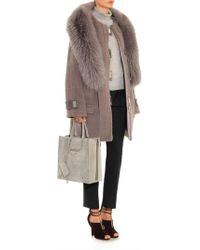 Jason Wu - Fur-trimmed Alpaca-blend Coat - Lyst