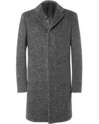 Calvin Klein Angora and Woolblend Overcoat - Lyst