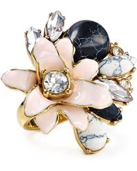 Kate Spade Glossy Petals Ring - Lyst