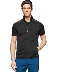 Calvin Klein   Space-dyed Mixed-media Vest   Lyst