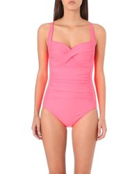 Seafolly Goddess Twisted Swimsuit Red - Lyst