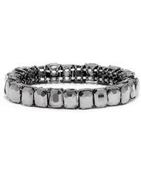 BaubleBar Radiant Cut Gem Stretch Bracelet - Lyst