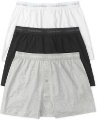 Calvin Klein Mens Classic Knit Boxers 3pack - Lyst