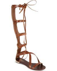 Carvela Kurt Geiger Kiki Knee-High Sandals - For Women brown - Lyst