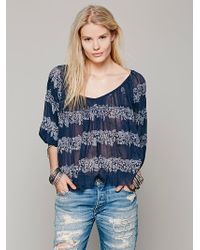 Free People Fp One String Me On Blouse - Lyst