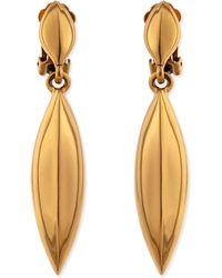Oscar de la Renta Golden Disc Clip-on Earrings - Lyst