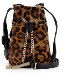 Halston Heritage | Leopard-Print Bucket Bag | Lyst