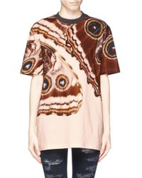 Givenchy Butterfly Wing Print Cotton Jersey T-shirt - Lyst