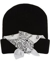 BCBGMAXAZRIA Cuffed Bandana Hat - Lyst