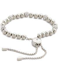 Michael Kors - Pave Adjustable Bracelet - Silver/clear - Lyst