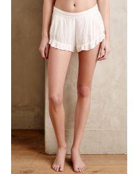 Sam & Lavi Ruffle Hem Shorts - Lyst