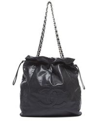 Chanel Pre-owned Caviar Quilted Bon Bon Tote Bag - Lyst