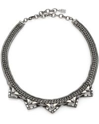 DANNIJO Lizzie Crystal Chain Collar Necklace - Lyst