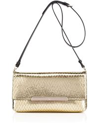 Christian Louboutin Gold Rougissime Clutch - Lyst