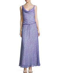 Diane von Furstenberg Sleeveless Draped Scoop Maxi Dress - Lyst