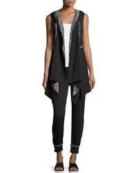 Max Studio Terry-lined Jersey Sweatpants - Black