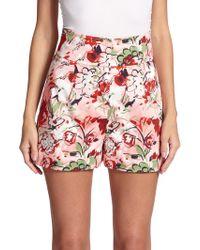 Carolina Herrera - Floral-print Shorts - Lyst