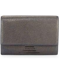 Time's Arrow - Hutton Medium Leather Clutch Bag - Lyst